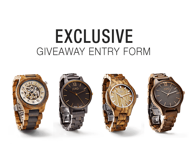 $100 Gift Certificate giveaway for Jord Watches