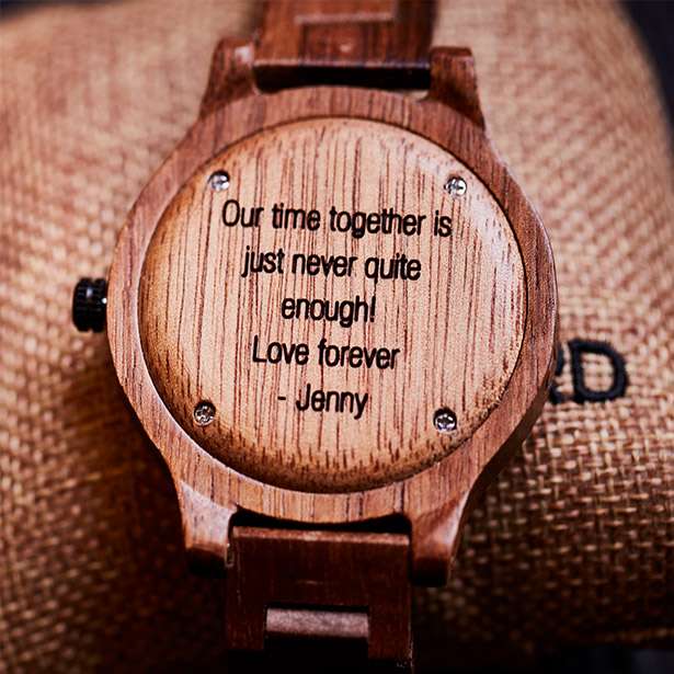 engraved wooden watches watch box engraving by jord