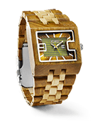 94A - Green Sandalwood & Maple Wood Watch by JORD
