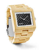 Delmar - Bamboo & Black Carbon Wood Watch by JORD