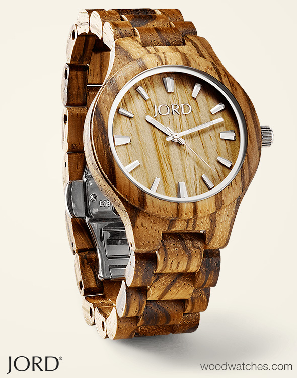 zebrawood wood watches by jord