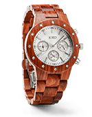 Sidney - Red Sandalwood & Mother of Pearl Wood Watch by JORD