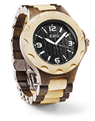 Sully - Dark Sandalwood & Maple Wood Watch by JORD